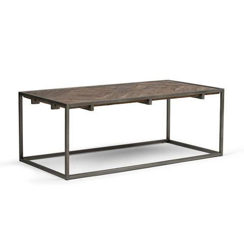 Avery Coffee Table Solid Wood Coffee Table Wood Metal Brown Wood