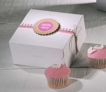Decorative Cupcake Boxes Captivating Decorated Box Selfpackaging For Four Cupcakes  Charmed Design Decoration