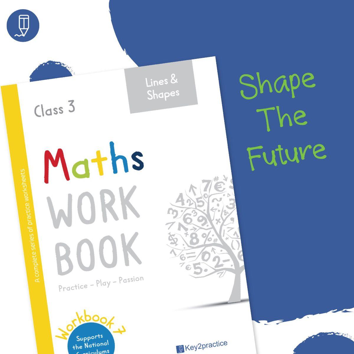Maths Worksheets Grade 3 Lines And Shapes Workbook
