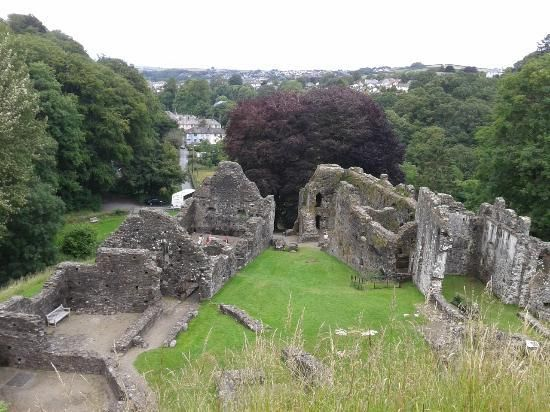 Okehampton Castle: View from the castle tower, Dartmoor National Park