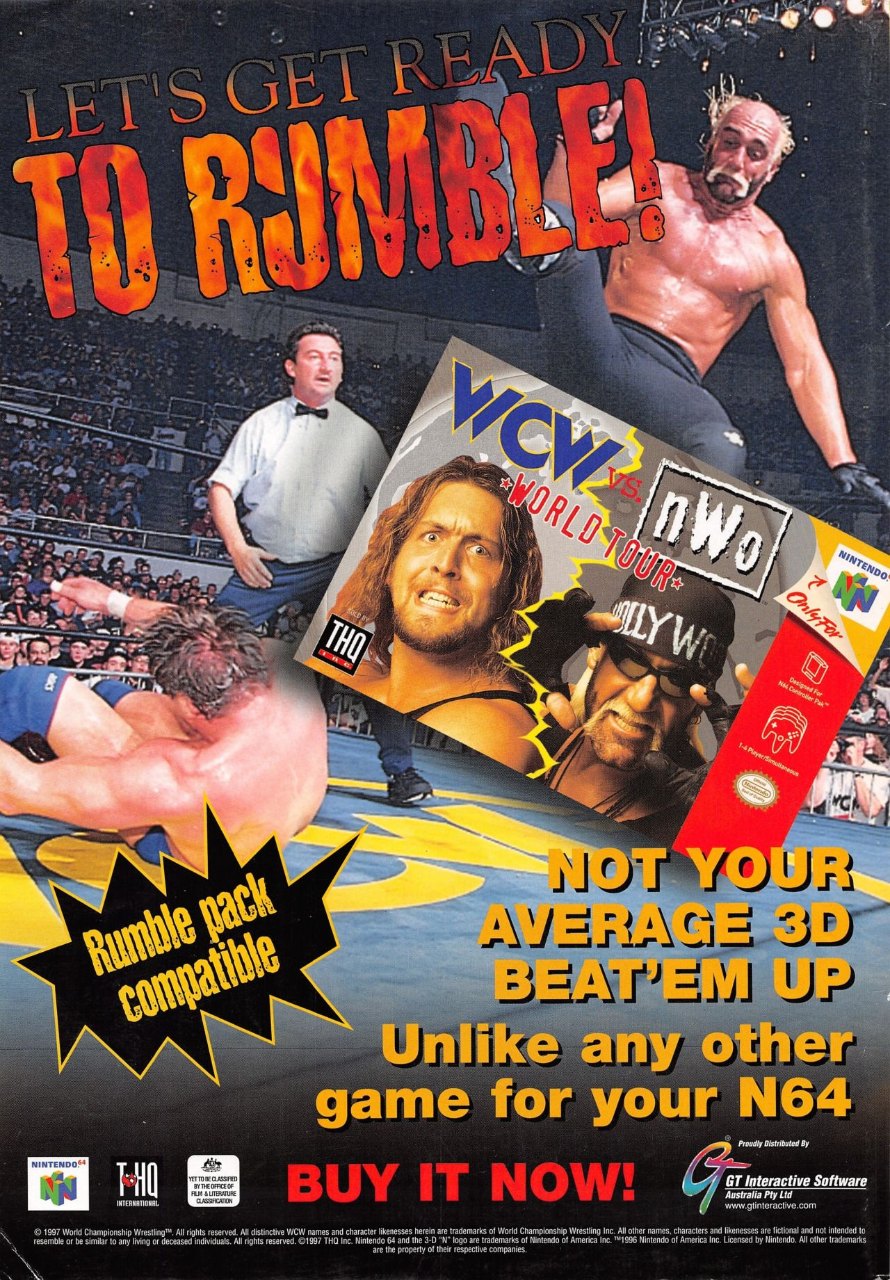 Let's Get Ready To Rumble! Retro video games, Wrestling