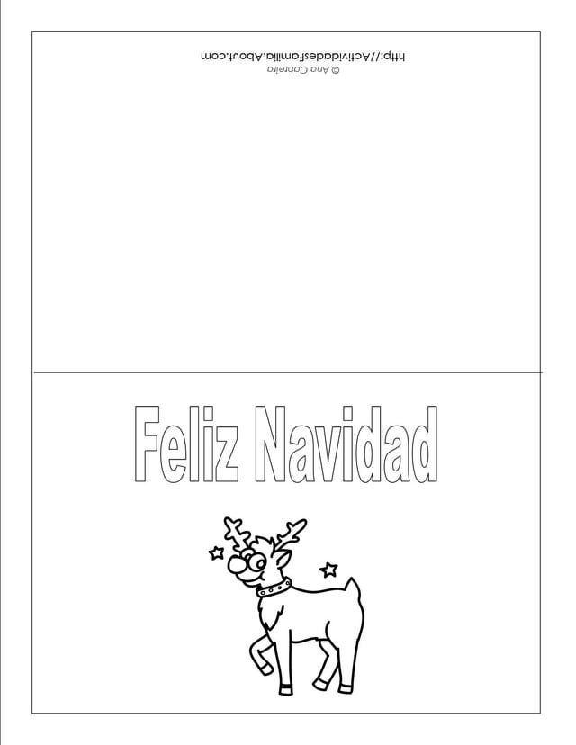 Descargra Gratis: Tarjetas de Navidad para colorear   Navidad ...