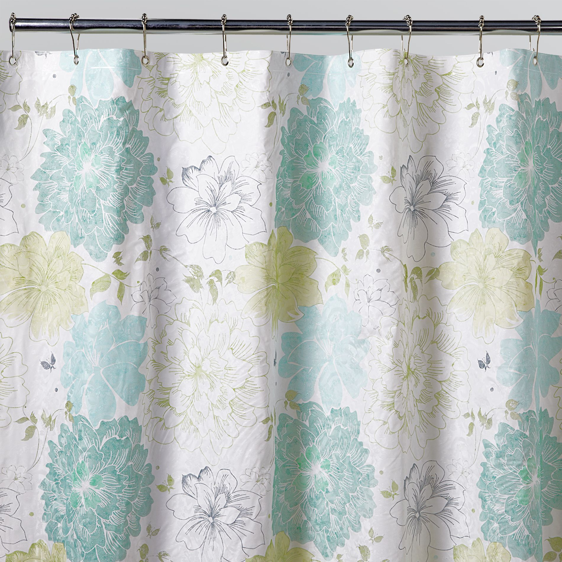 Aqua Gray And Yellow Shower Curtain From Sears Yellow Shower