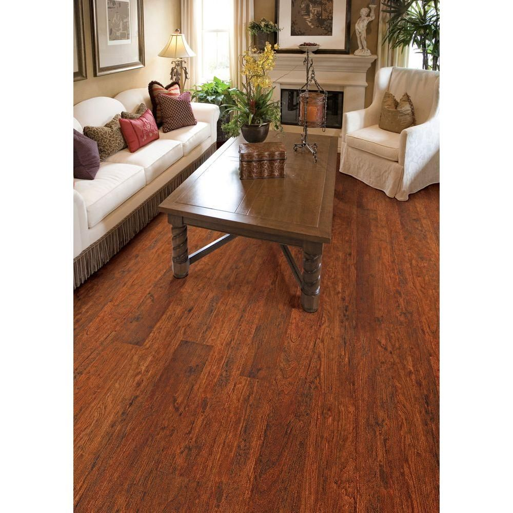 Home Decorators Collection High Gloss Keller Cherry 8 Mm Thick X 5 In Wide X 47 3 4 In Length Laminate Flooring 13 26 Sq Ft Case Hl82 The Home Depot Flooring Home Bamboo Flooring
