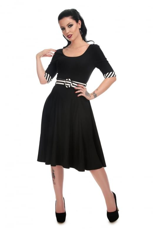 fcf92caf Collectif Mainline June Striped Trim Doll Dress | Skeletons In My ...
