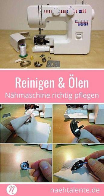 Nettoyage et huilage de la machine à coudre – conseils d'entretien et de maintenance Talents en couture   – Nähprojekte