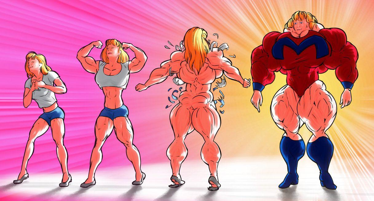 Anime Girl Growth mega girl growth promolorddaroth   art girl, muscle