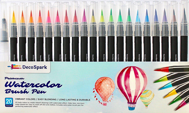 Watercolor Brush Pens Set | 20 colors | Best Real Soft Brush Markers ...