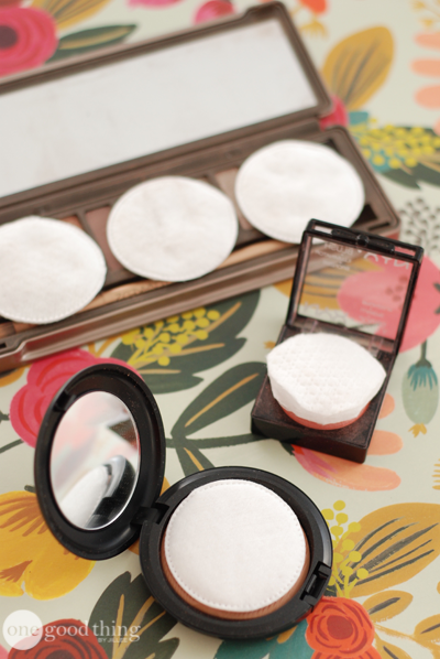 When you're on-the-go, pack your makeup with cotton rounds to keep them from breaking!