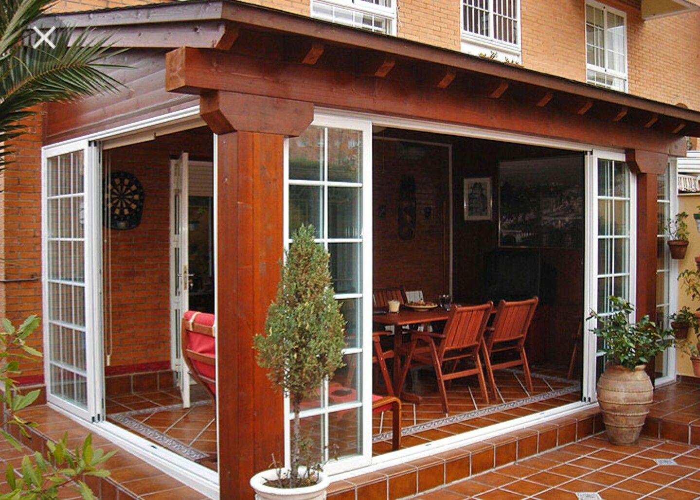 Cerramiento exterior yard pinterest terrazas casas - Porches de madera cerrados ...