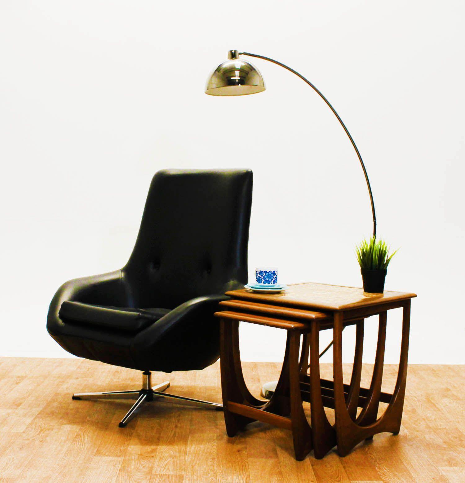 1950 s chairs retro original 1960s black vinyl egg