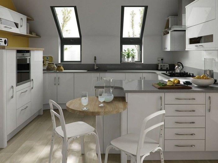 Dachgeschosswohnung kücheneinrichtung mansarde dachschräge deko - designer kchen deko