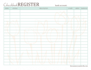Free Printable Checkbook Register  The Summery Umbrella  LetS