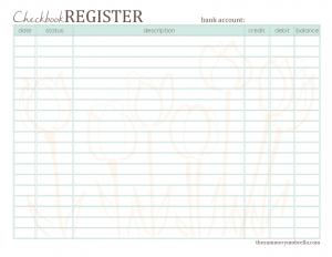 Free Printable Checkbook Register  The Summery Umbrella  LetS