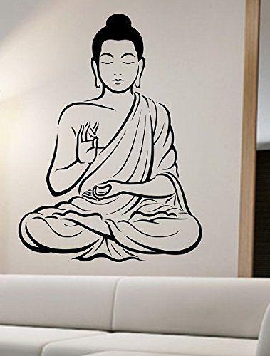 Buddha Wall Decal Vinyl Art Home Decor Good Vibes Namaste Grl State Of The  Wall