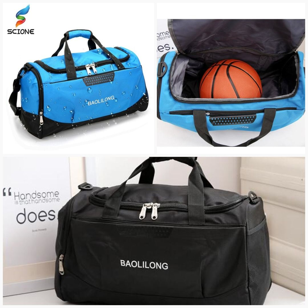 dfdbc01182a5 Professional Waterproof Large Sports Gym Bag With Shoes Pocket Men Women  Outdoor Fitness Training Duffle