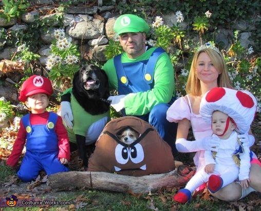 Super Mario Brothers Family Costume