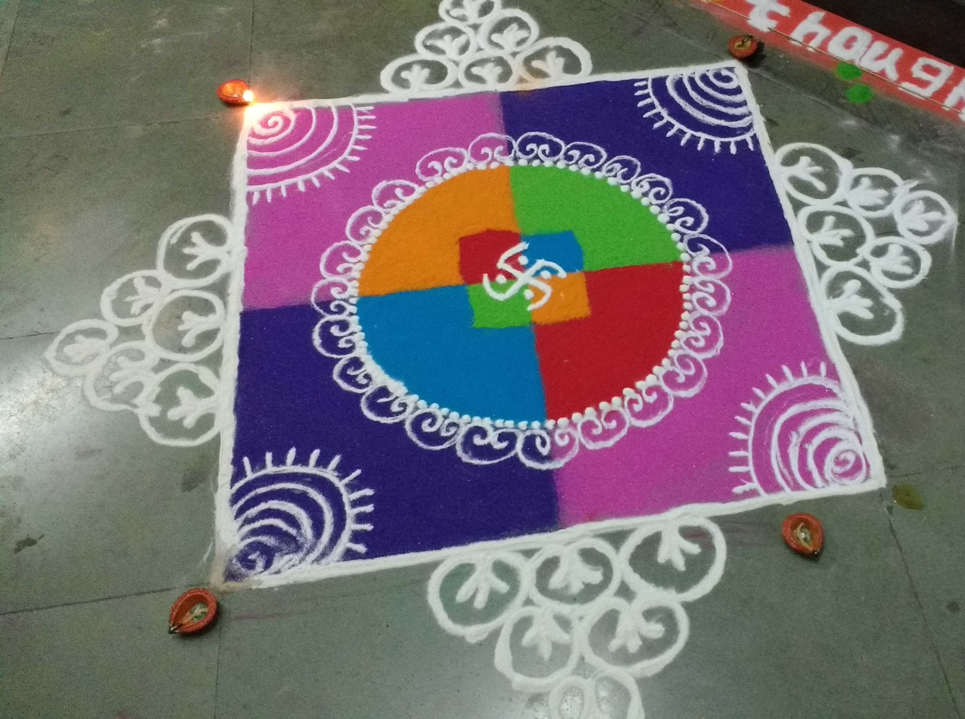 Amazing Rangoli Designs With Theme Go for Rangoli Designs With Theme Go Green  75tgx