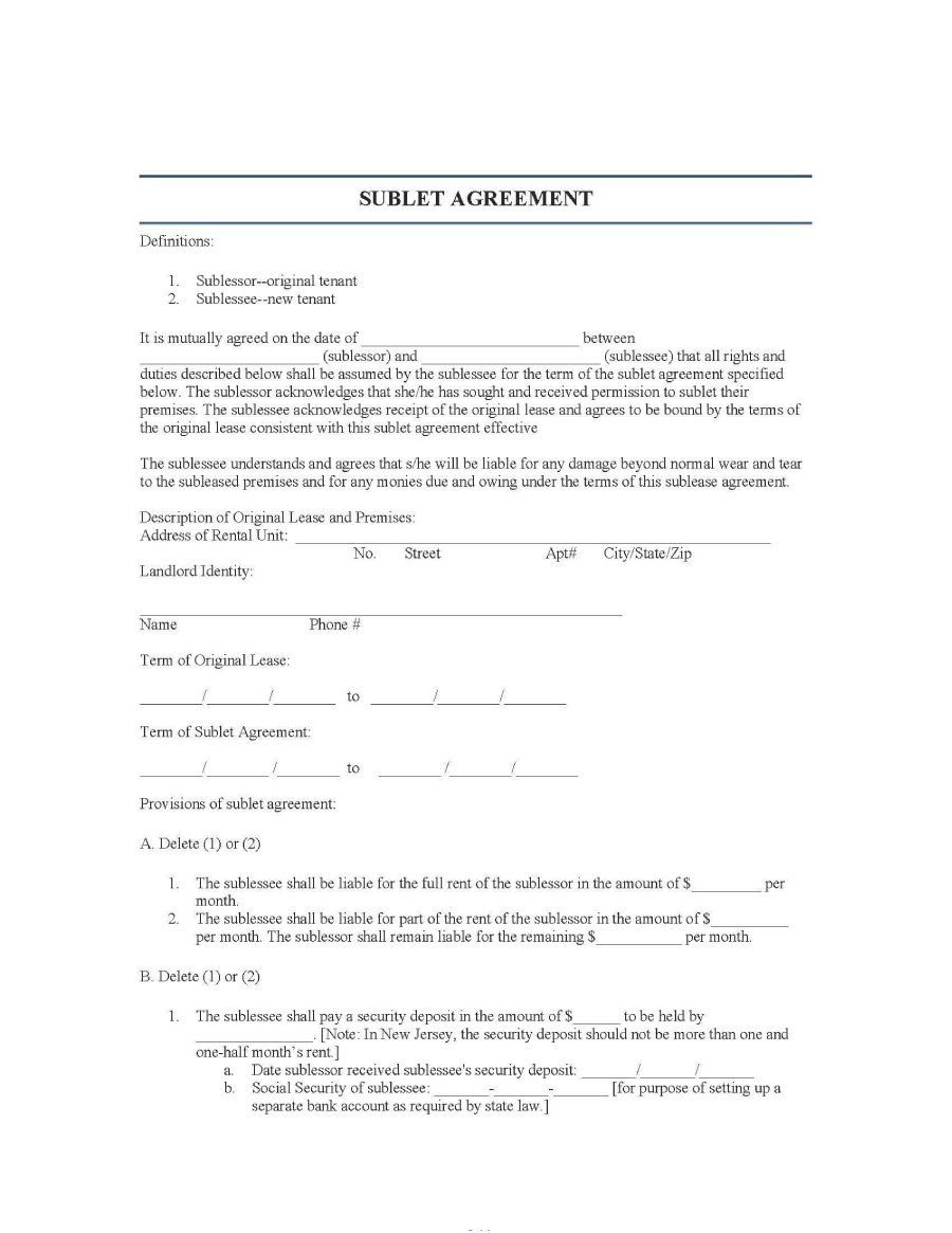 Professional Sublease Agreement Templates Forms ᐅ Template Lab Within Free Commercial Sublease Agre Rental Agreement Templates Professional Templates Templates