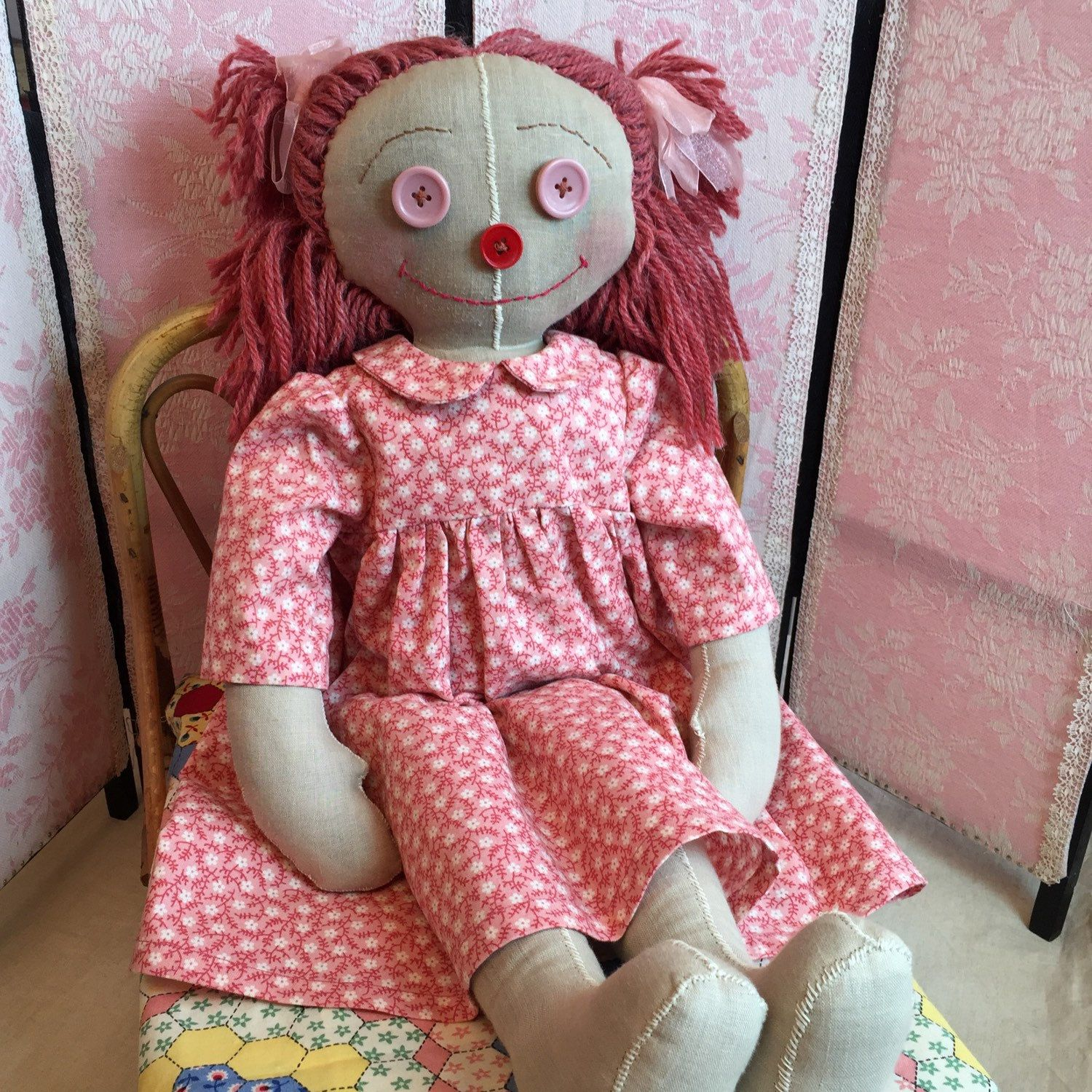 Emma, gorgeous big rag doll, now available.