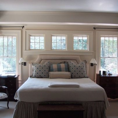 Windows Above Bed Design Ideas, Pictures, Remodel, and