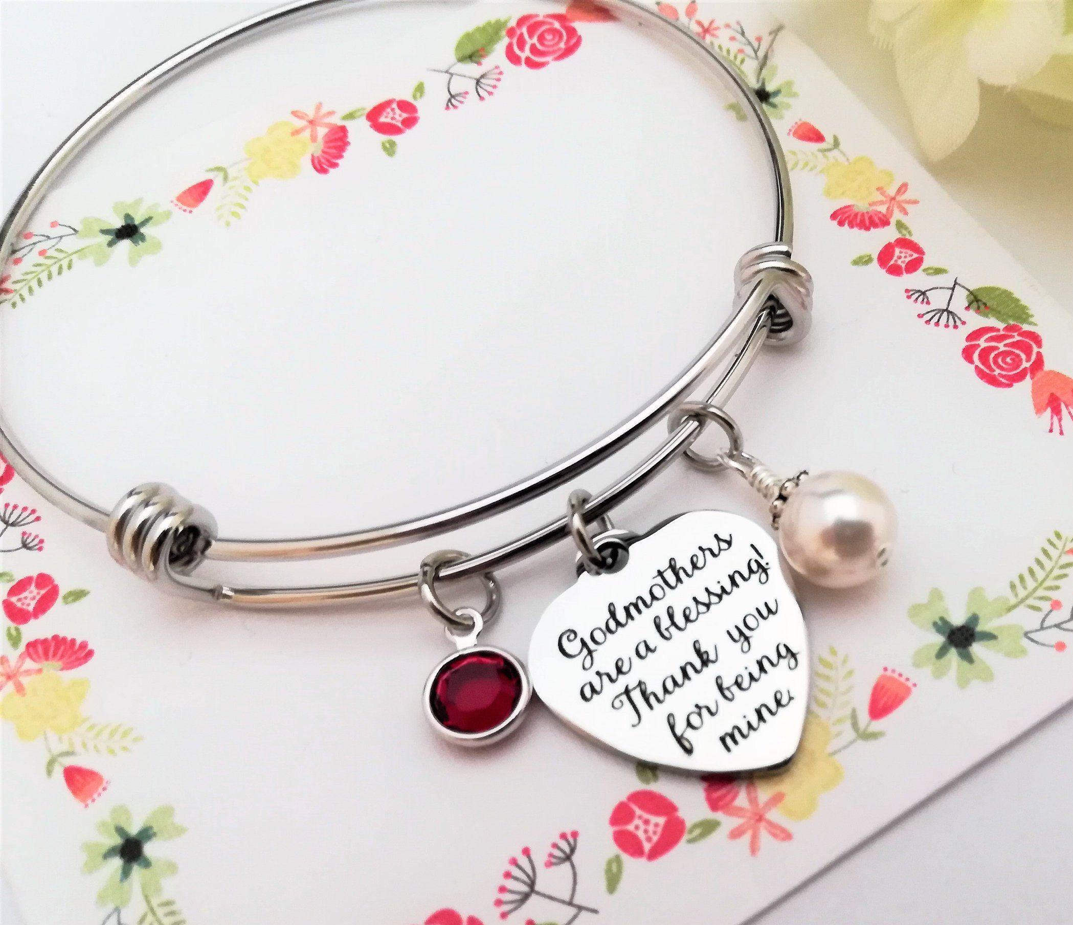 Godparent Gift Godmother Proposal Godmother Gift Godmother Bracelet Gifts for Godmother Thank you Gift for Godmother