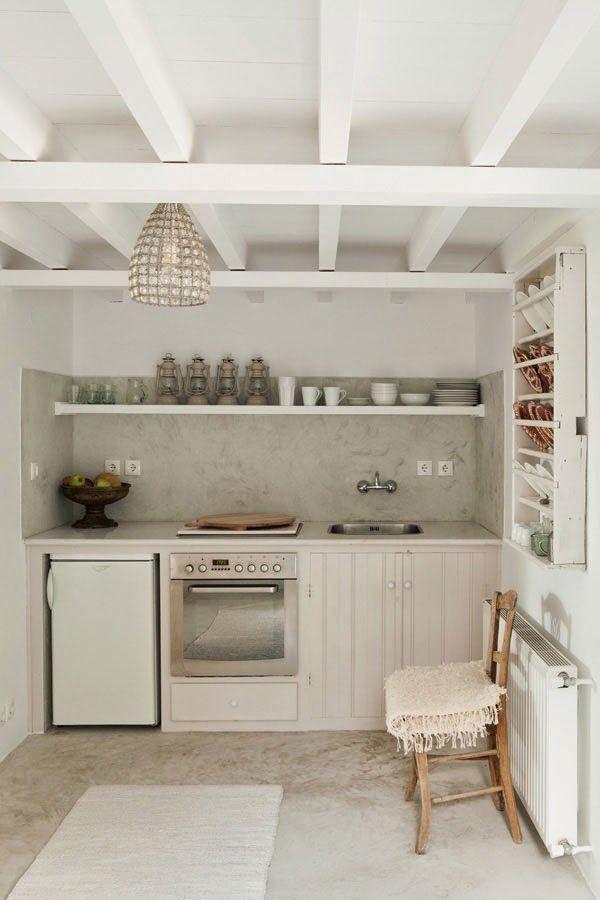 35 idées pour aménager une petite cuisine Kitchens, Kitchenette - fixer plan de travail cuisine