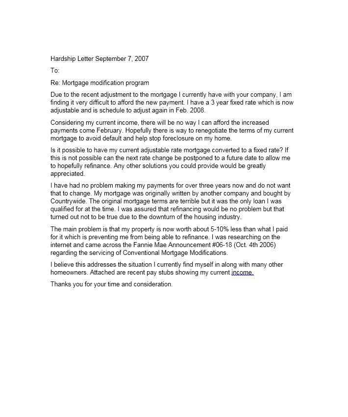 Hardship Letter Template 12 sherwrght@aol Pinterest - pay advice template