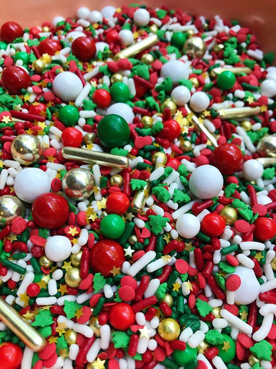 Edible Sprinkles Classic Christmas Sprinkle Mix Neon Yolk