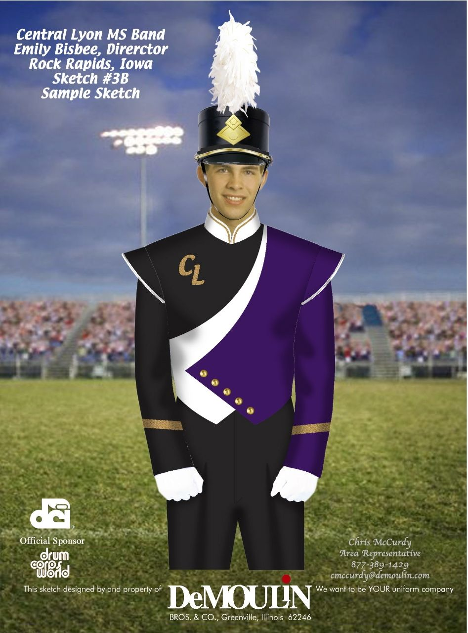 1caa797998f high school band hat and plume
