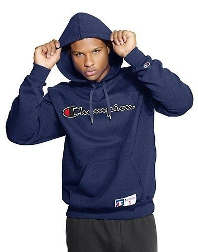 Champion Mens Retro Graphic Pullover Hoodie - 7 NEW COLOR CHOICES- Sizes S - 2XL #Champion #Hoodie