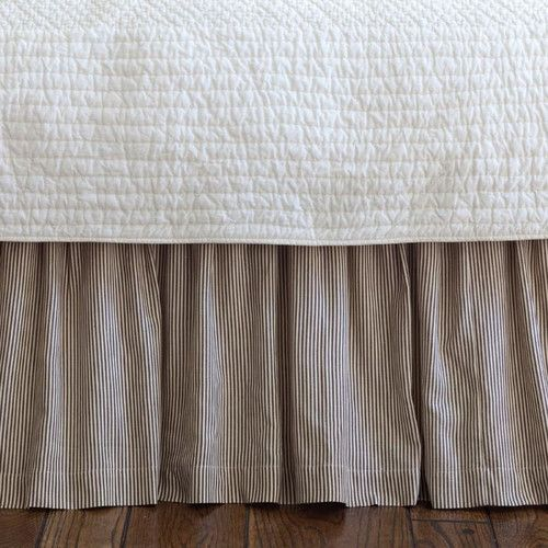 Taylor Linens Farmhouse Stripe Bed Skirt Bedskirt Striped Bedding French Country Bedding