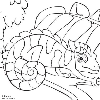 Chameleon Coloring Page! Pin YOUR favorite animal pin NOW