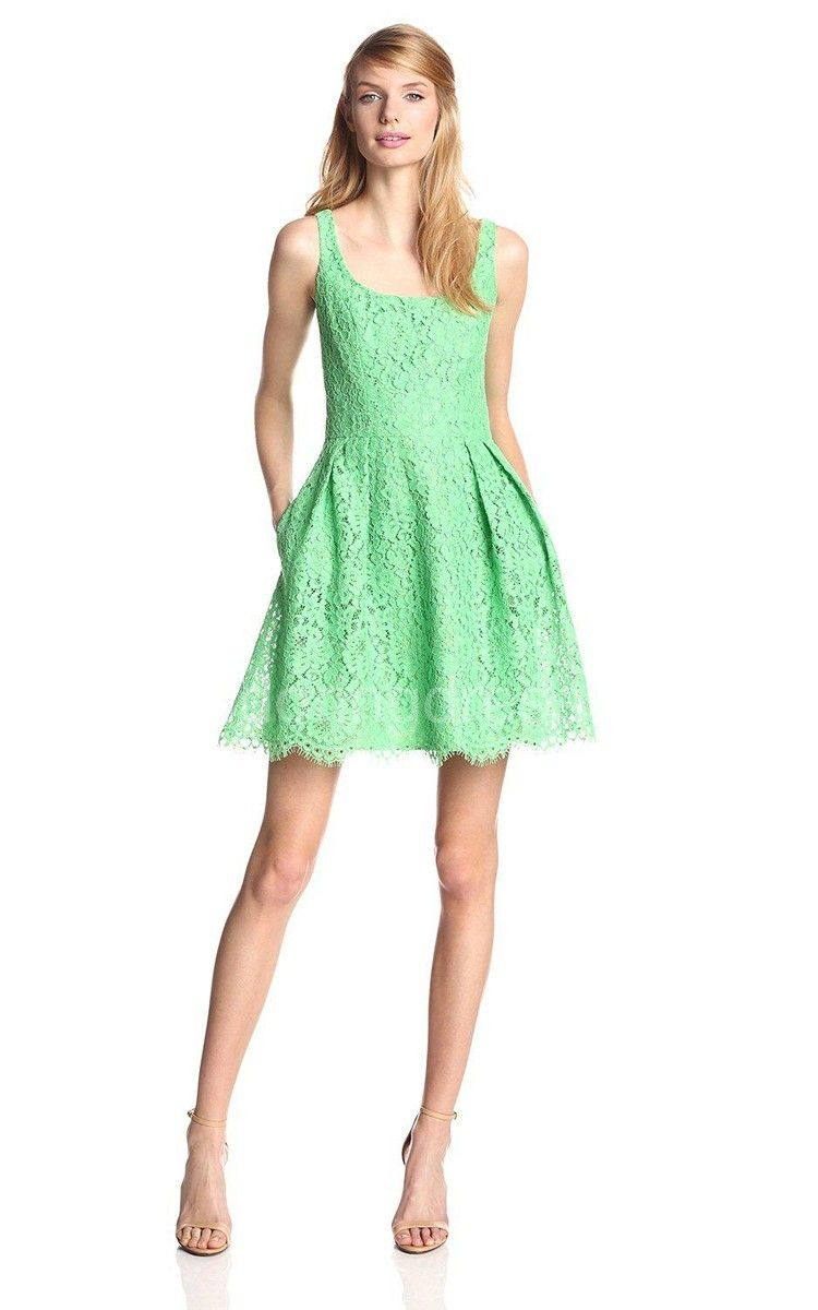 Ussleeveless aline short lace dress cocktail dress with