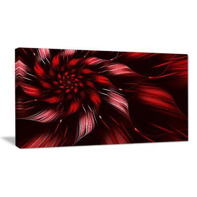 DesignArt 'Multicolor Symmetrical Fractal Flower' Graphic Art on Wrapped Canvas Size: