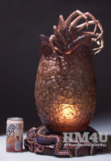 Alien Egg And Facehugger With Lamp 1 2 Resin Statue