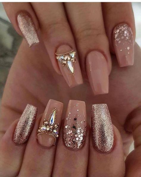 59 Trendy Bridal Nails Sparkle Brides