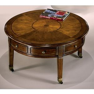 Antique Small Round Coffee Table Com This Listing Includes 1 Round Cocktail W Casters 40 W