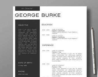 Professionally designed resume google search graphic design items similar to professional resume template and cover letter yelopaper Images