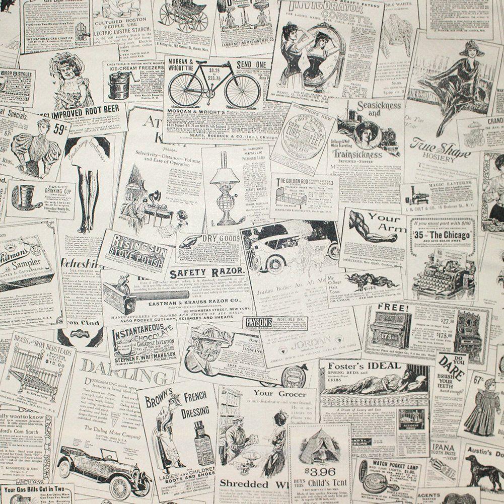 Haokhome 63275 Vintage Newspaper Peel Stick Wallpaper Beige Black Self Adhesive Contact Paper Amazons Vintage Newspaper Newspaper Wallpaper Contact Paper
