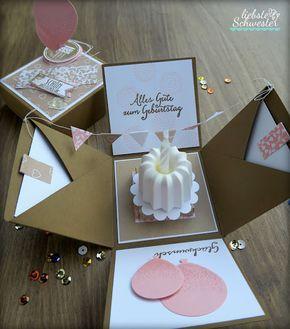Pop Up Box Eine Schone Uberraschung Basteln Gifts Birthday Und