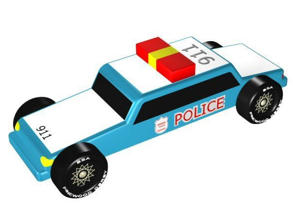 protect and serve your next pinewood derby race with pinewood pros police car design plan