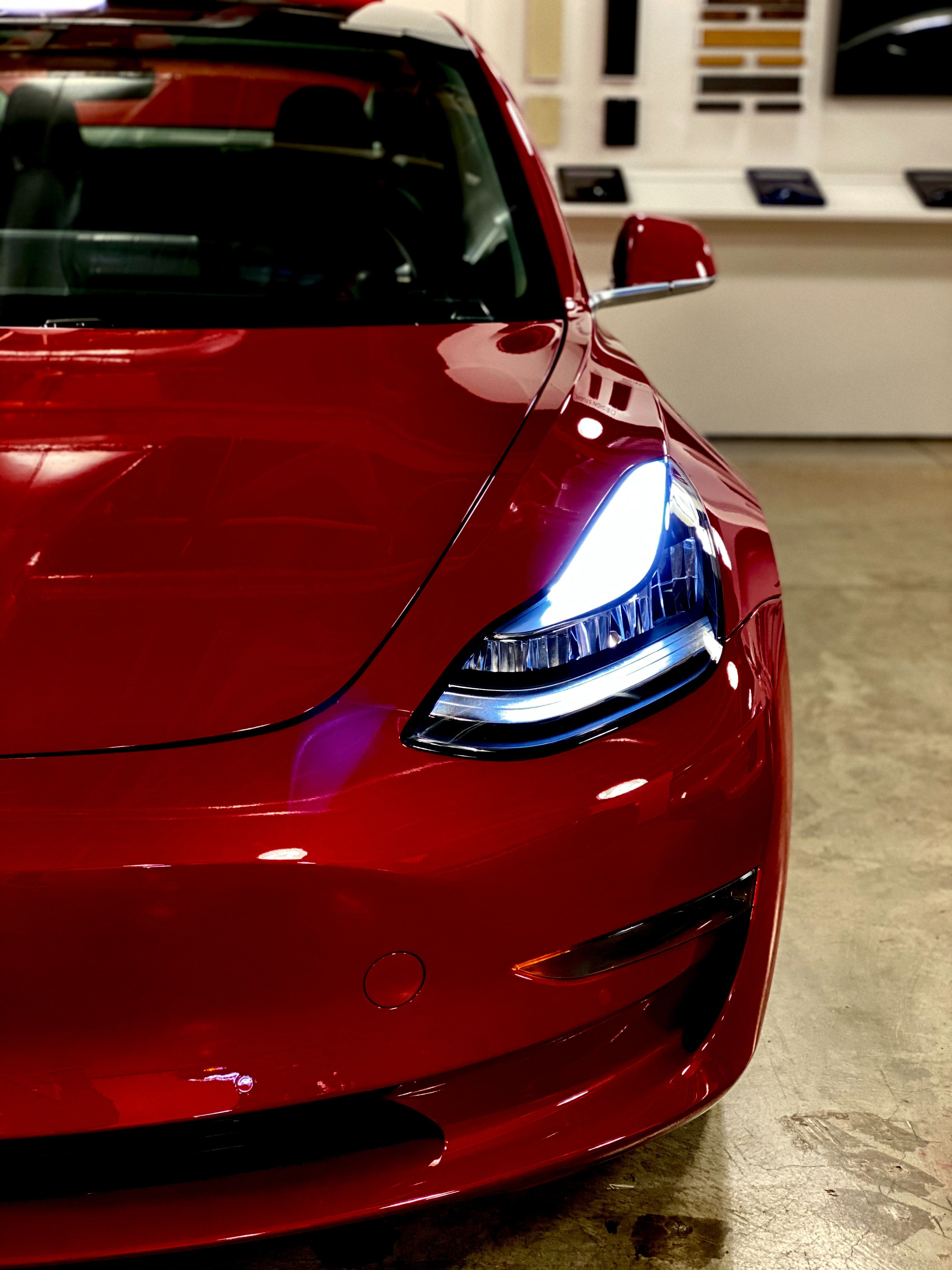 Tesla Model 3 In Red Color in 2020 Coupe cars, Best