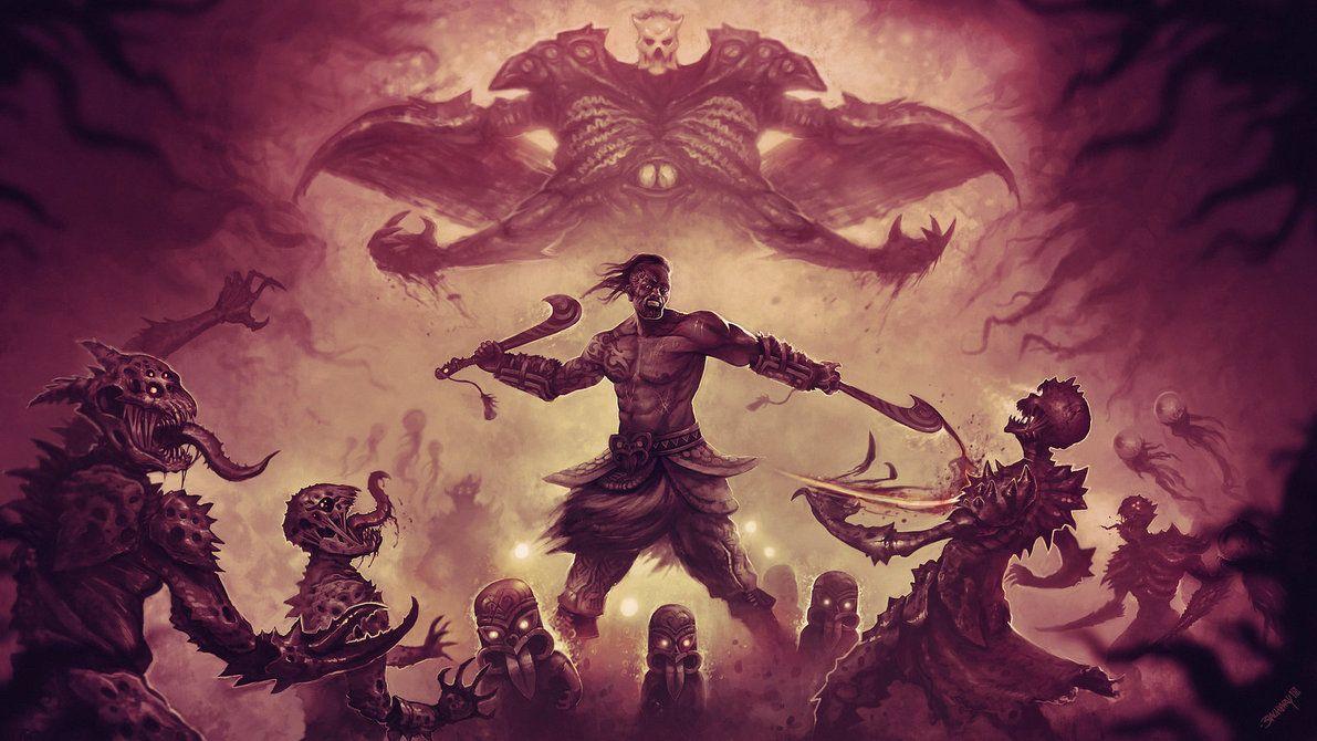 Marauder Malachai Dark Fantasy Art Wallpaper Fantasy Creatures