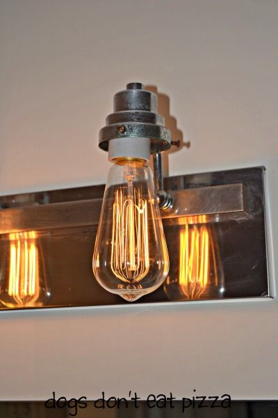 vintage bulb in bathroom fixture - update bathroom lighting ...