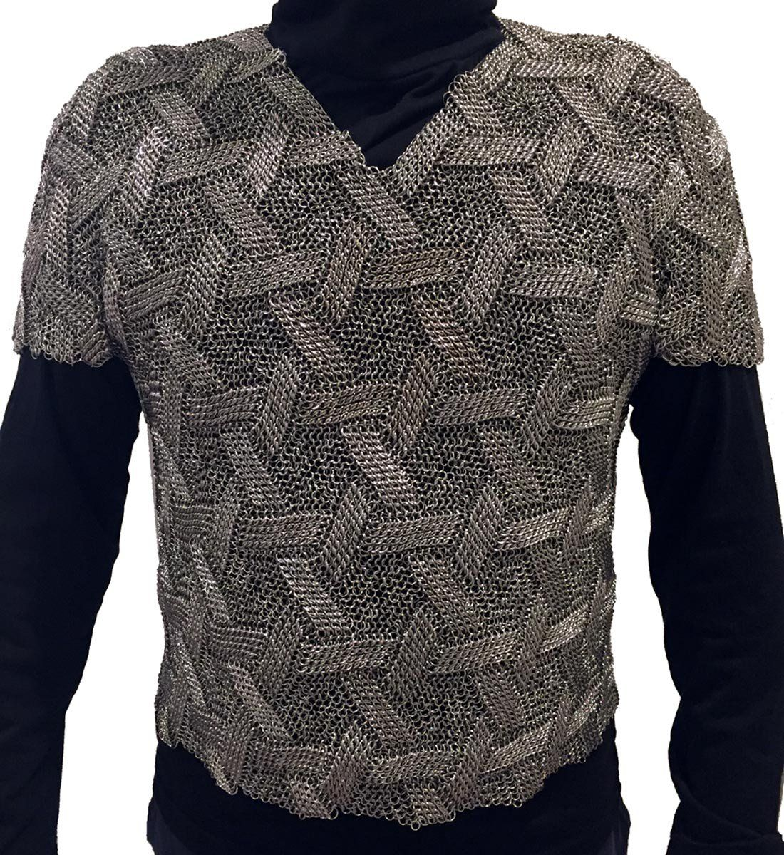 Star Of David Patterned Shirt Stats Half Persian 3 1 Sheet 6 And European 4 1 Around 44 000 Rings Total C Dr Chainmail Clothing Chainmail Armor Chain Mail