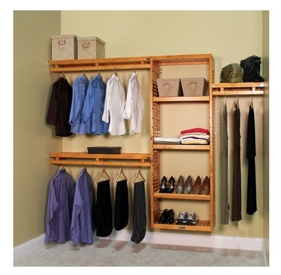 Wooden Closet System Wardrobe Clothing Organizer Clothes Shoes Selves  Hangings This Closet System Made By 100