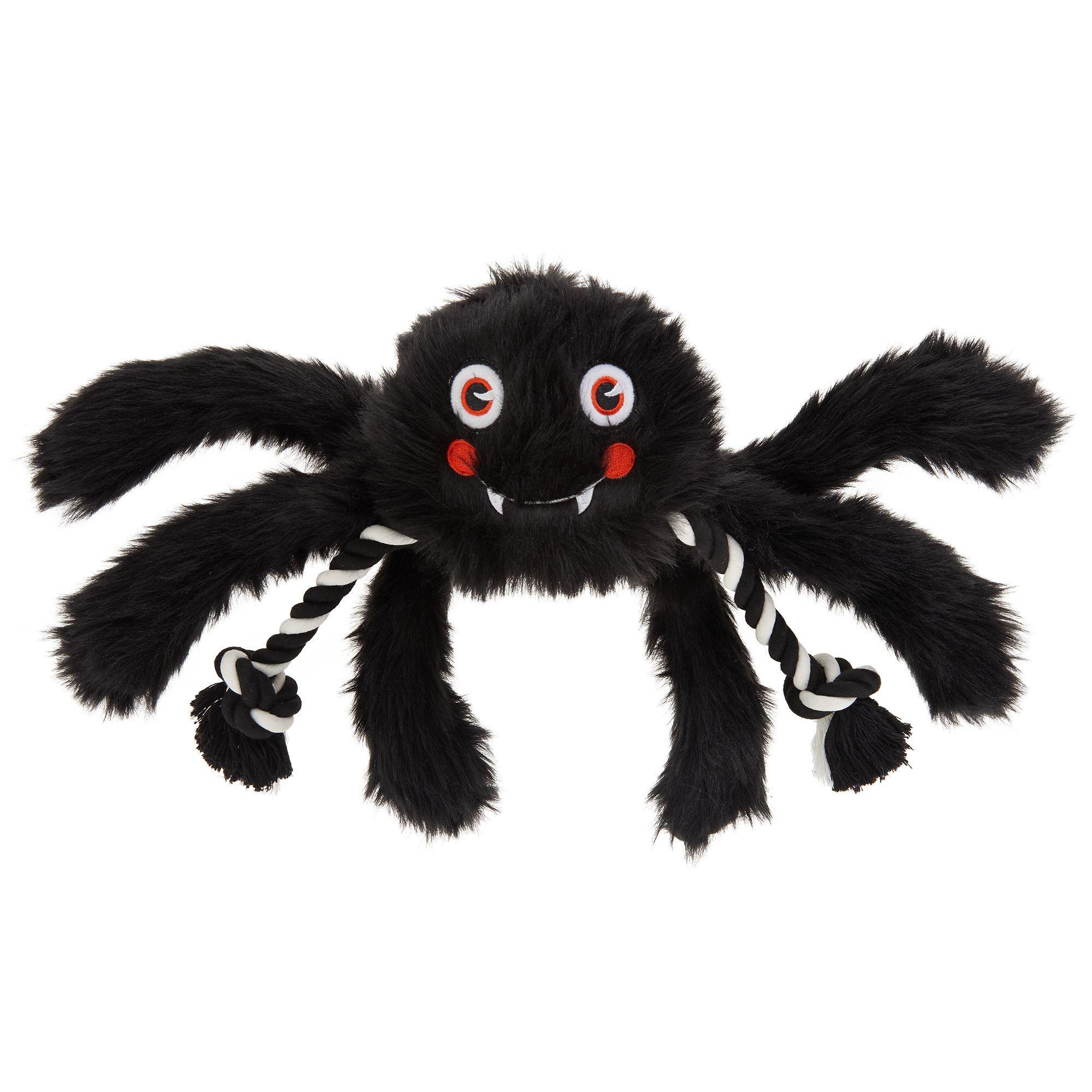 Thrills And Chills Halloween Spider Dog Toy Plush Rope