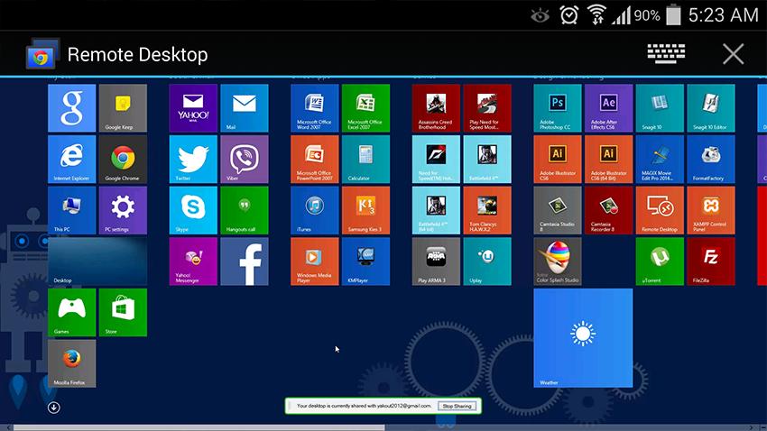 طريقة إستخدام تطبيق Chrome Remote Desktop علي هاتفك