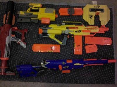 Nerf Guns Lot of 4GUNS Accessories Bullets | eBay
